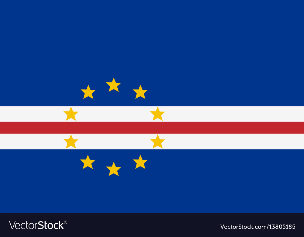 Cape verde flag for independence day and