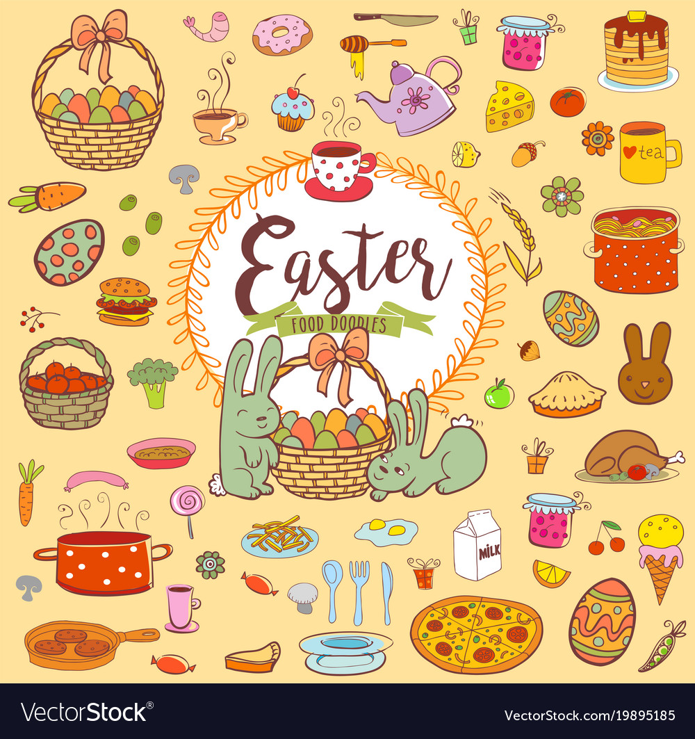 Easter food doodles