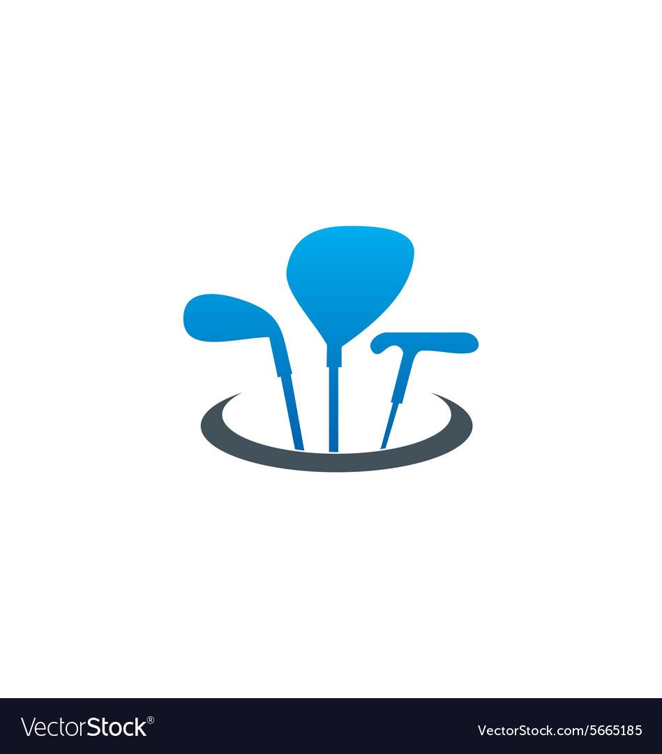 Golf tool stick sport logo