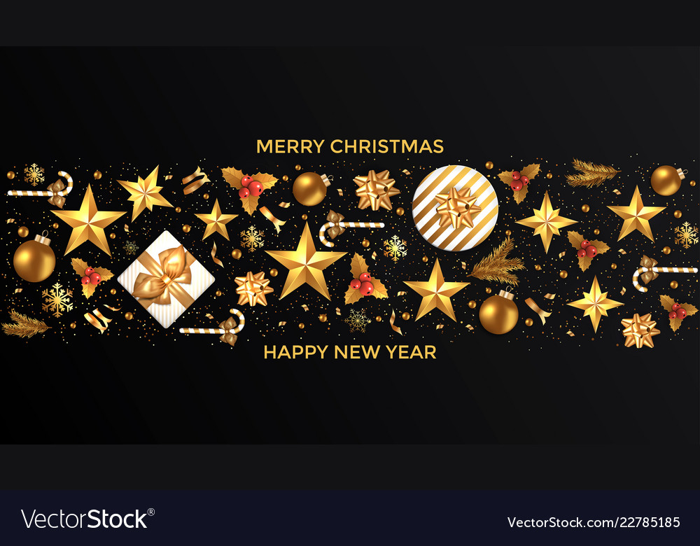 Holiday new year card - 2019 on black background 6