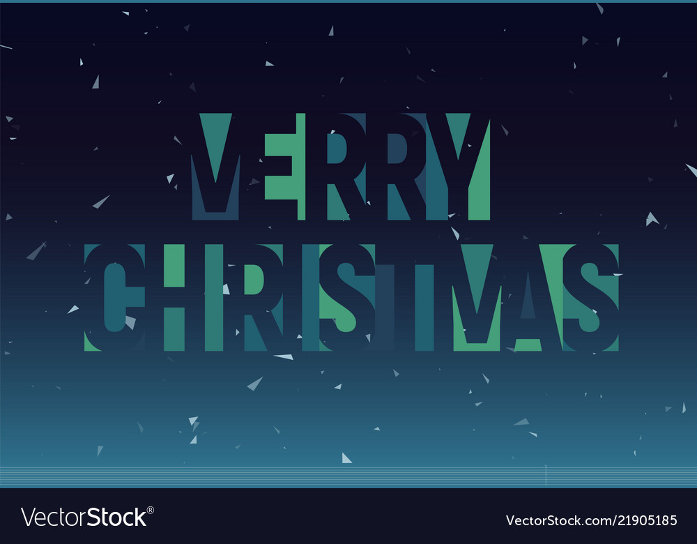 Merry christmas geometric cutout letters banner