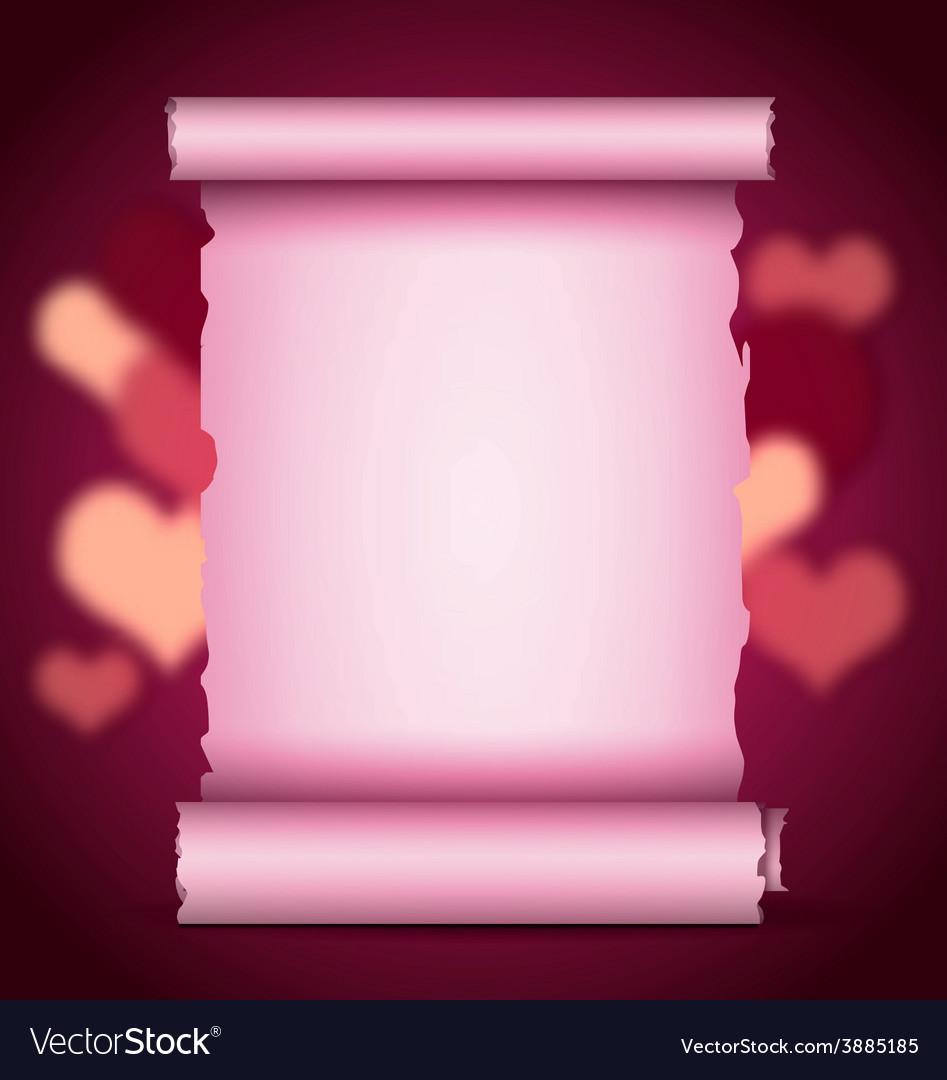 Scroll Valentine background