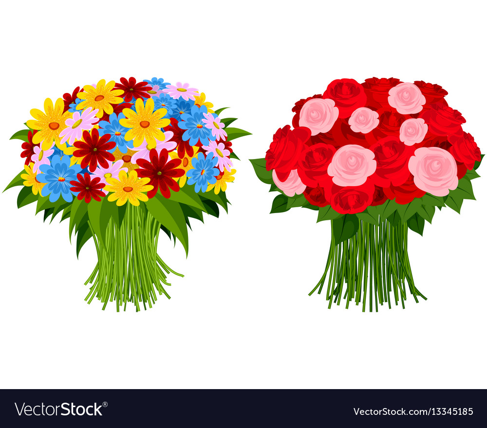 Two bouquet of flowers