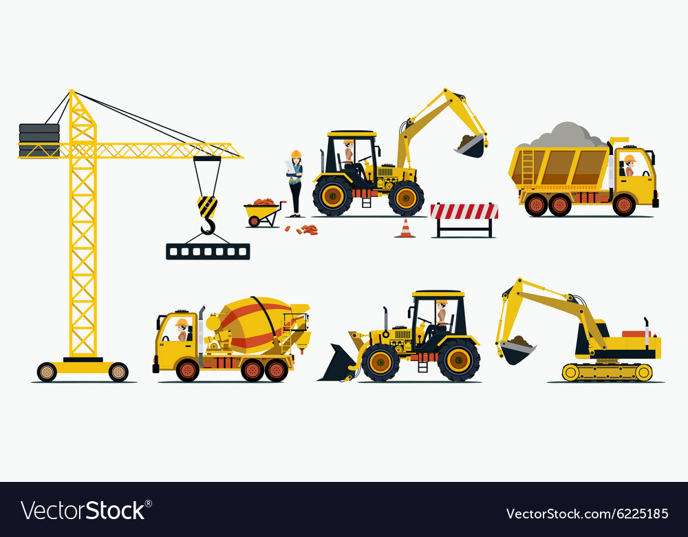 Vehicle Construction vector image