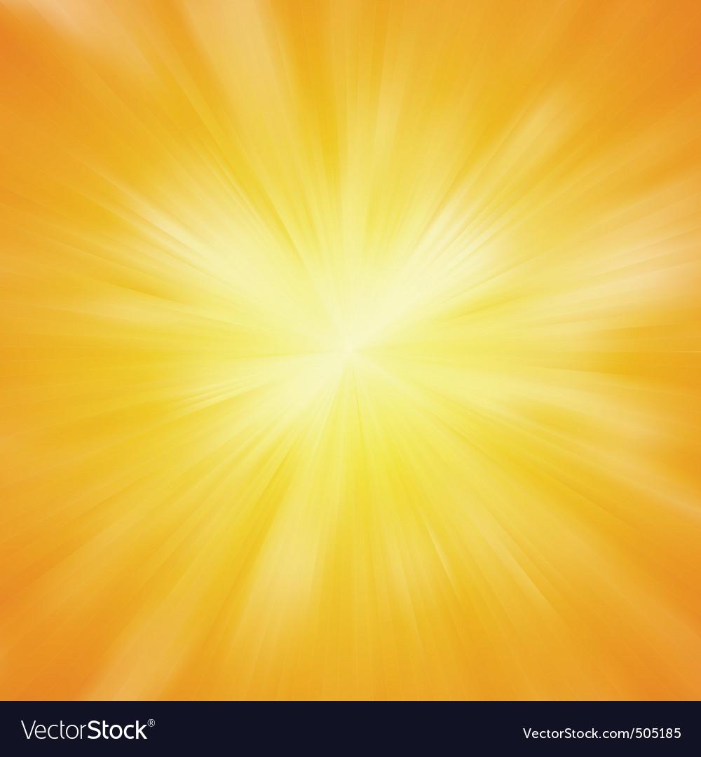 Warm sun light eps 8 vector image