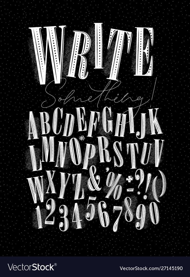 Alphabet pen line style dark