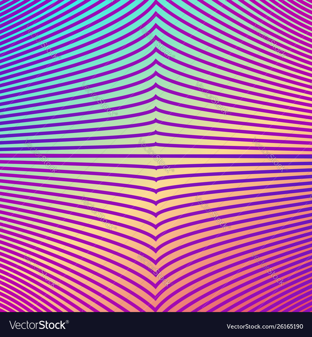 Bright gradient color abstract line pattern