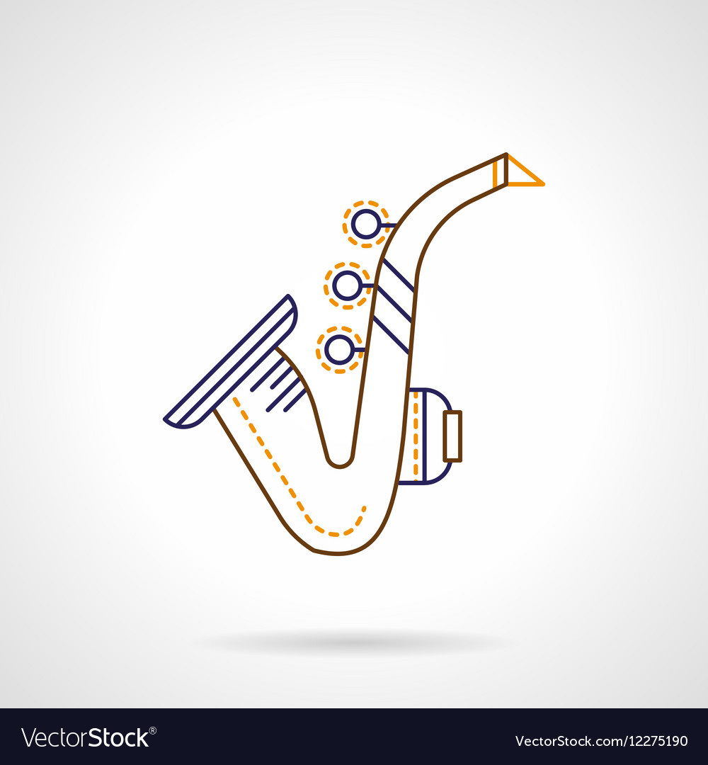 Flat line icon for sax
