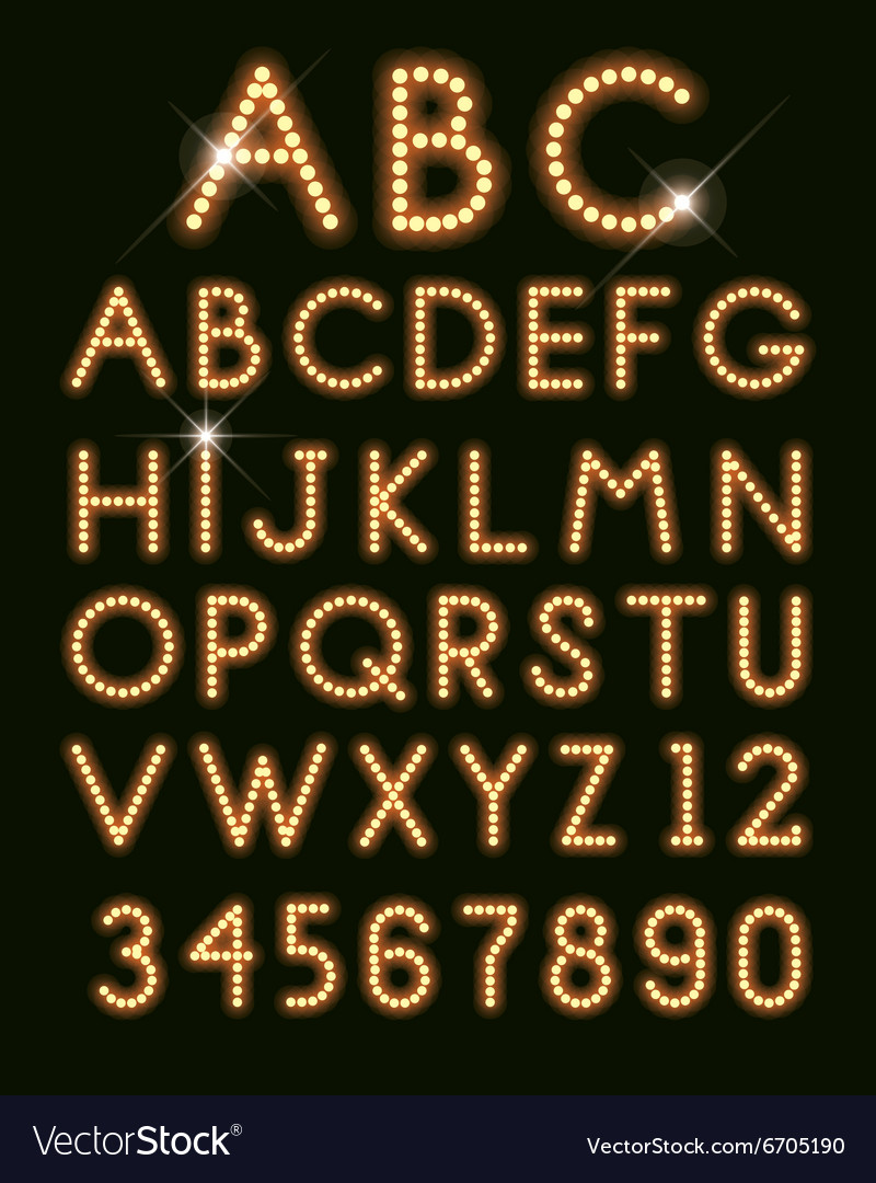 Glowing letters