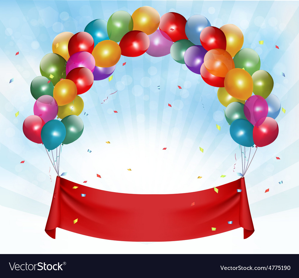 Happy birthday banner background Royalty Free Vector Image