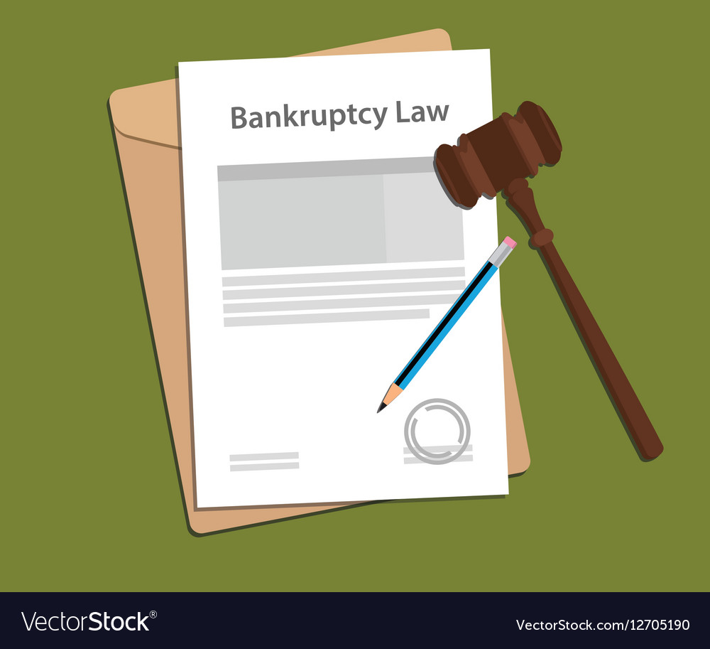 Legal concept of bankcruptcy law vector image