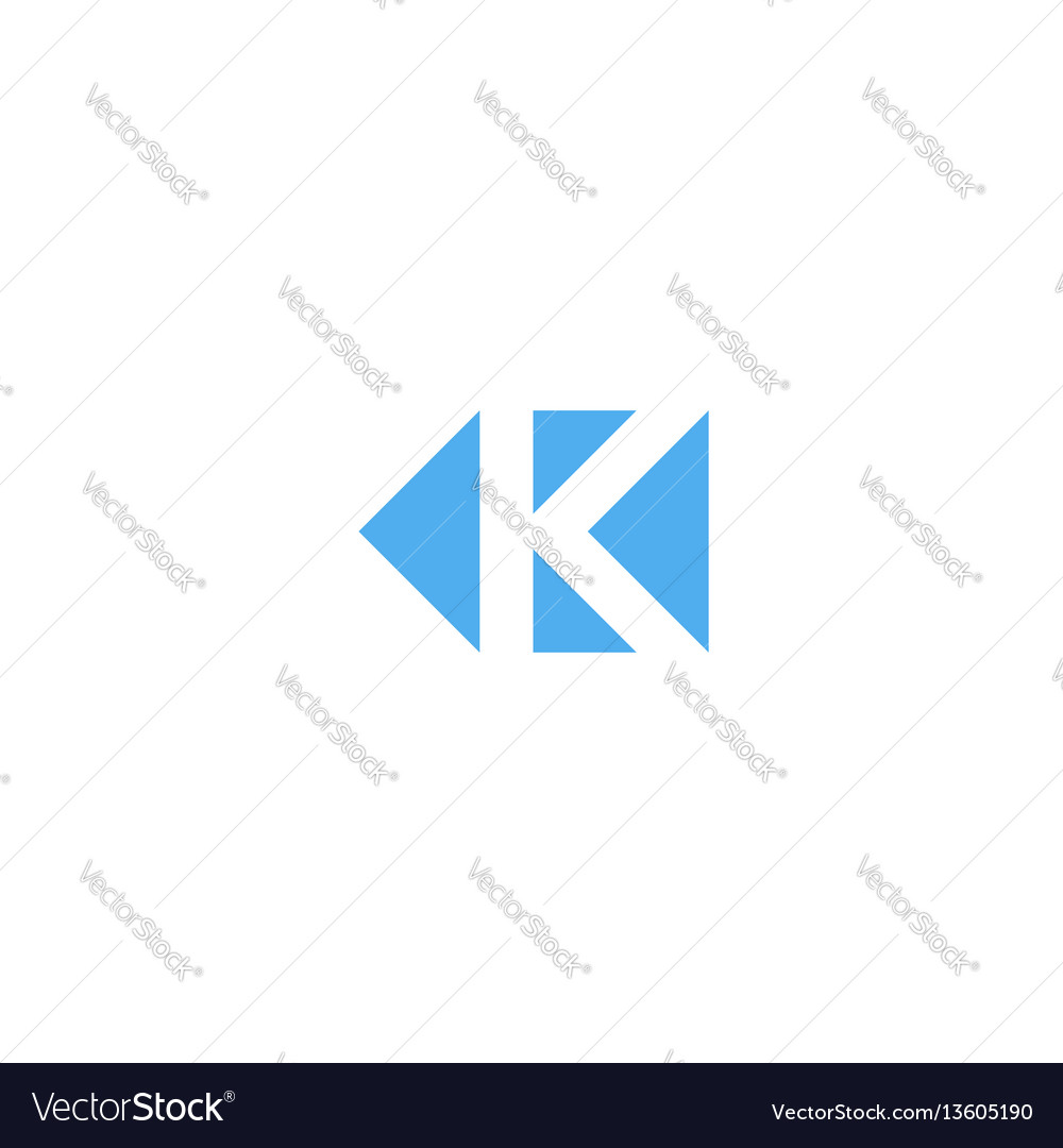 Letter k logo triangle geometric shape minimal