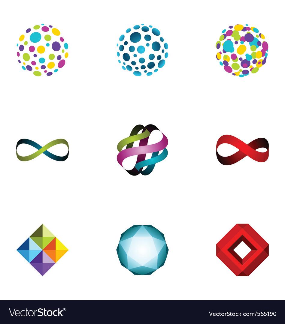 Logo design elements set 25 vector image
