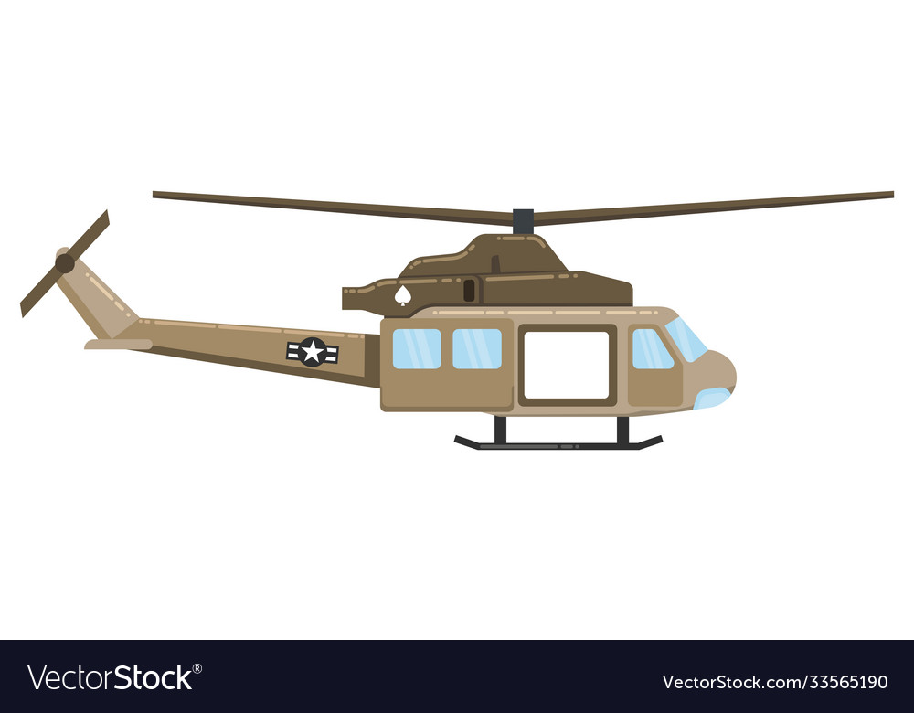 Military helicopter hawk flat render air