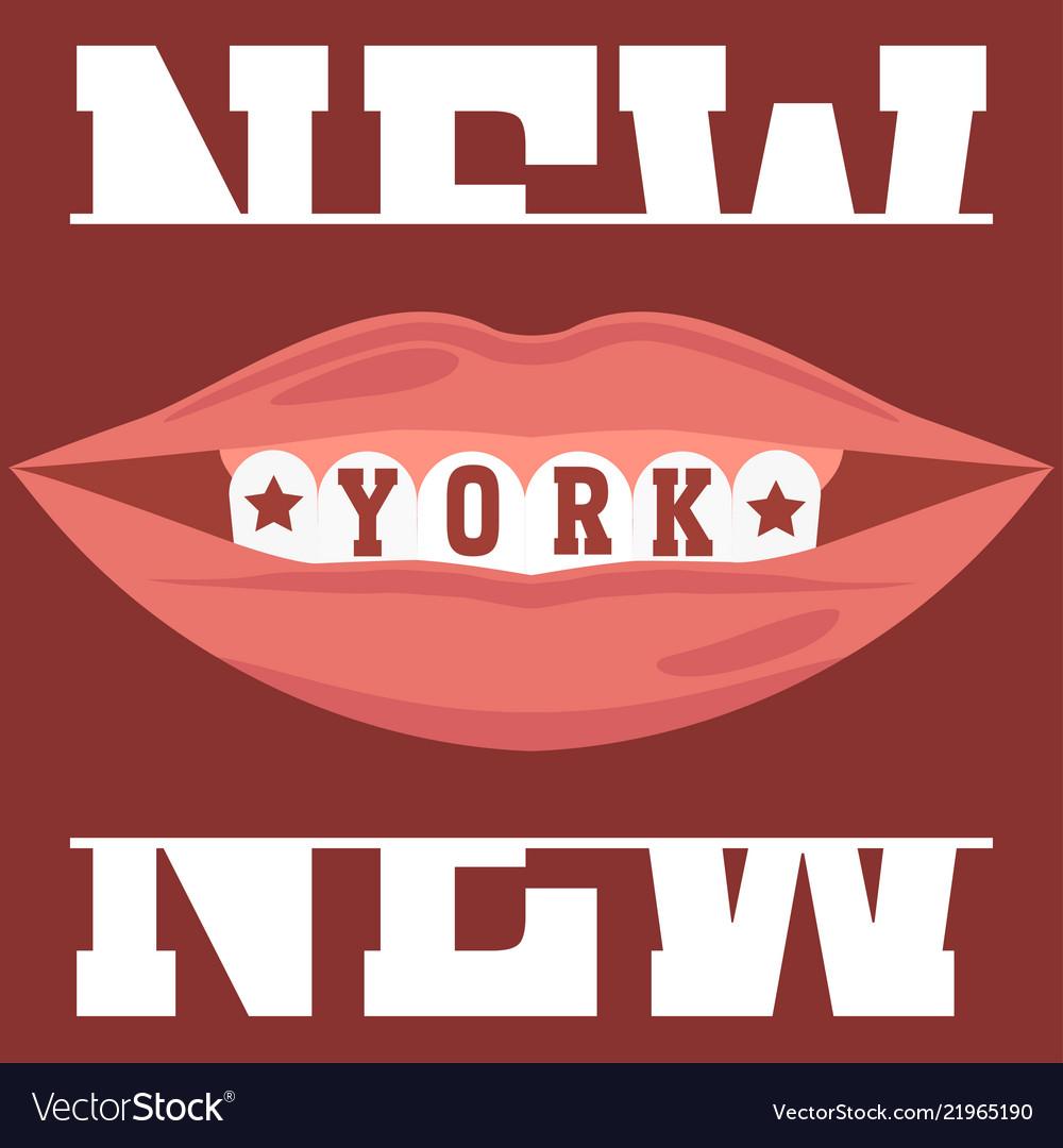 New york brooklyn sport wear typography emblem t Vector Image a0c8b0f97
