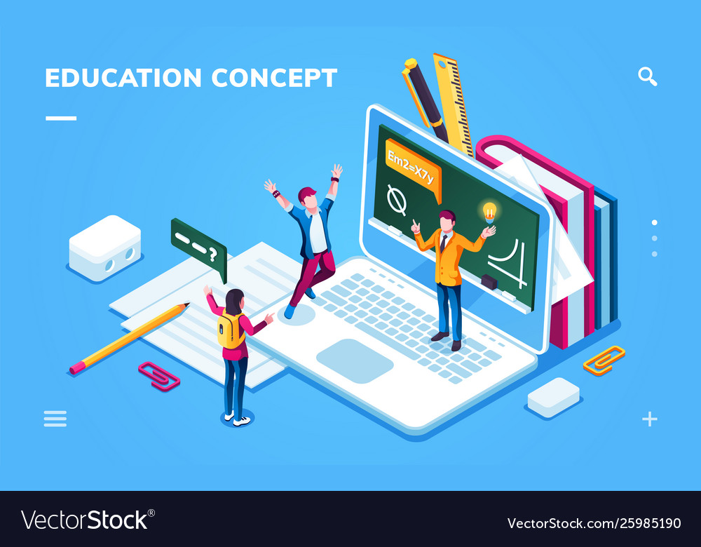Online education page for smartphone application