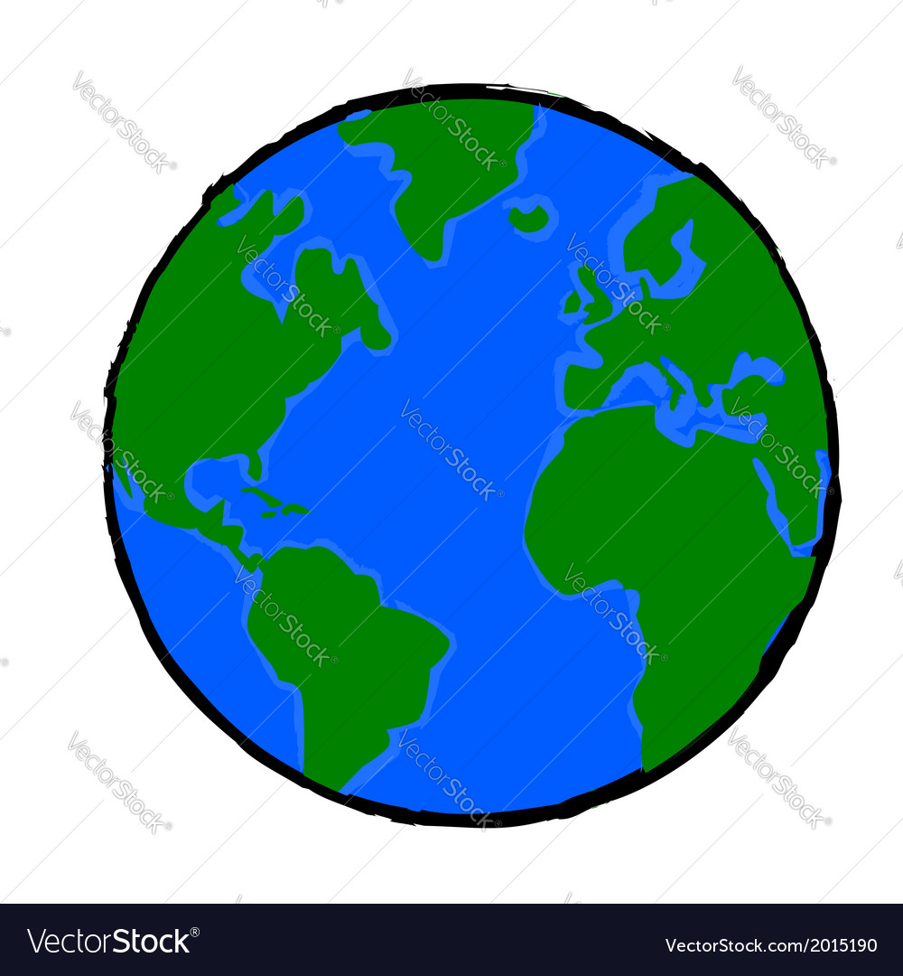painted earth royalty free vector image vectorstock rh vectorstock com earth vector free earth vector psd
