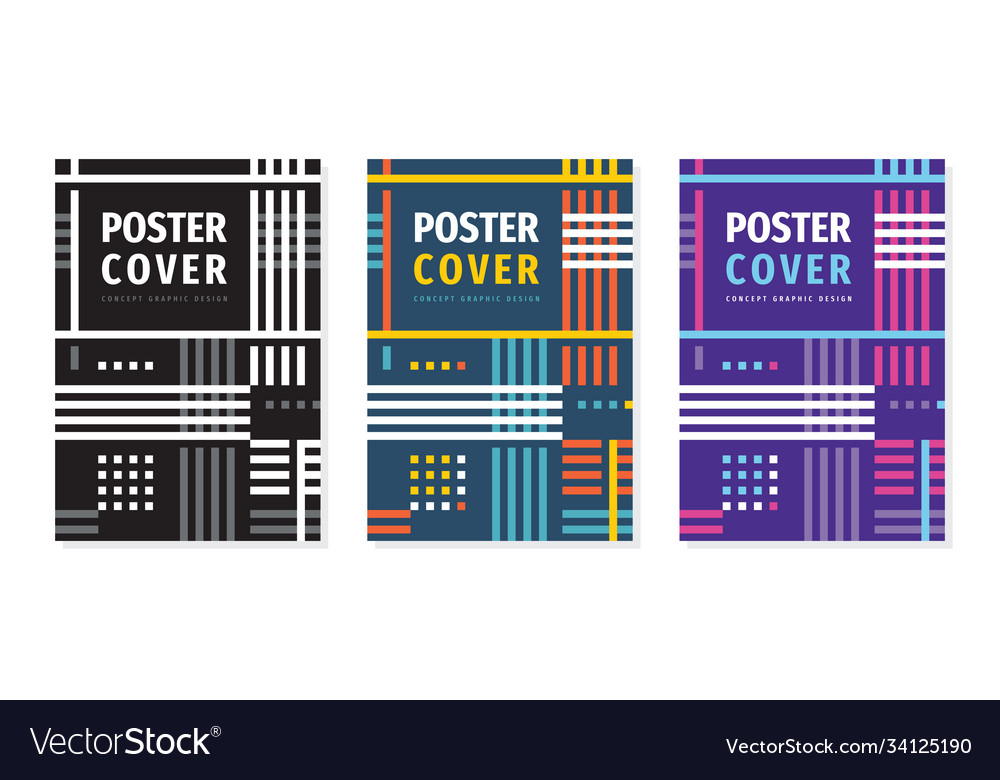 Poster geometric concept design cover book