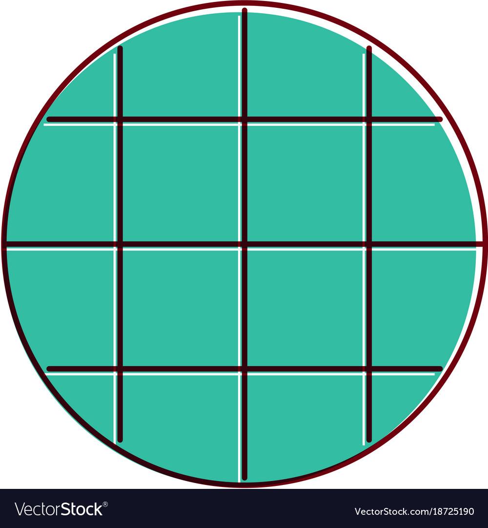 Screen navigation app blank round template