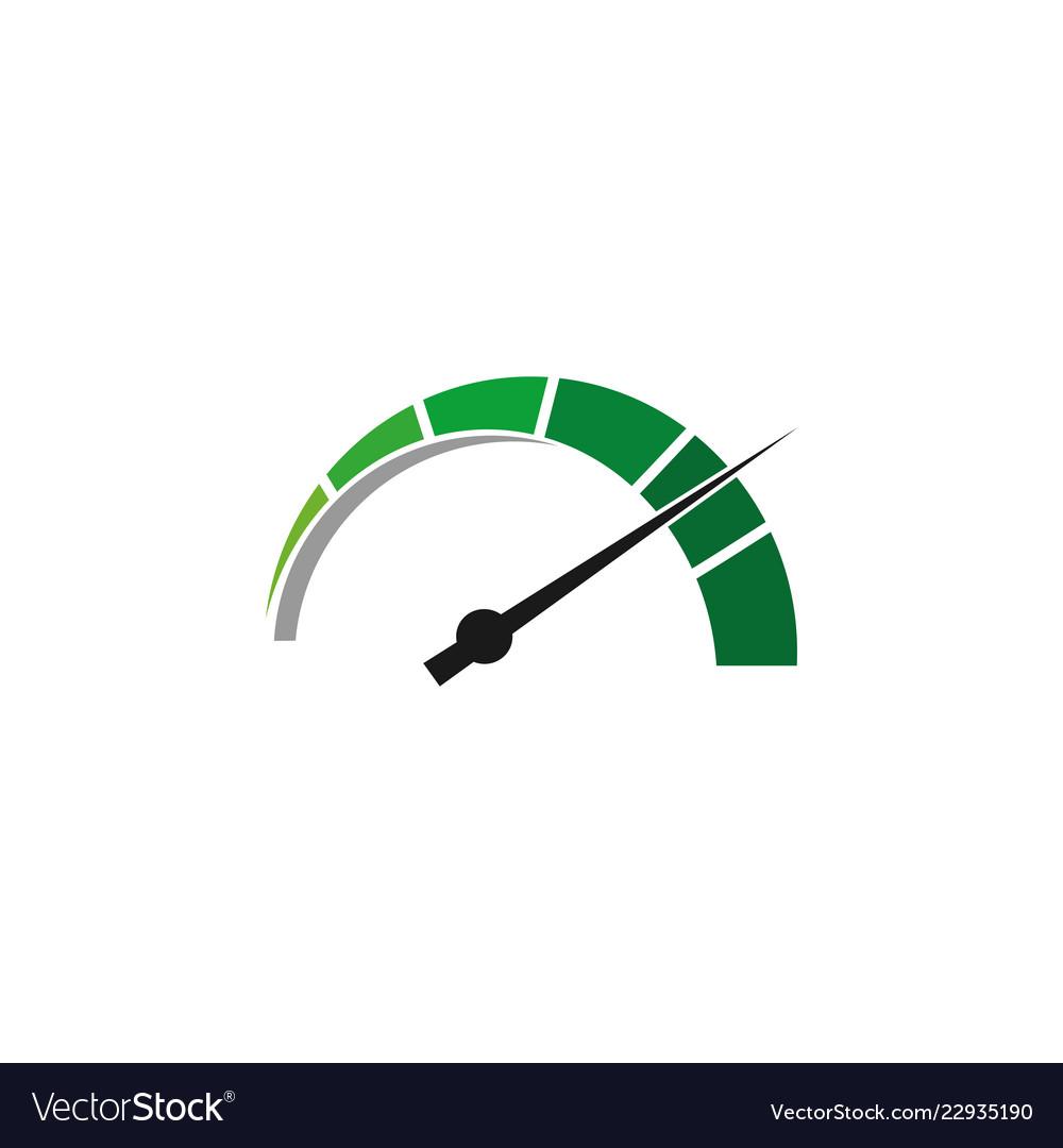Speedometer graphic design template isolated