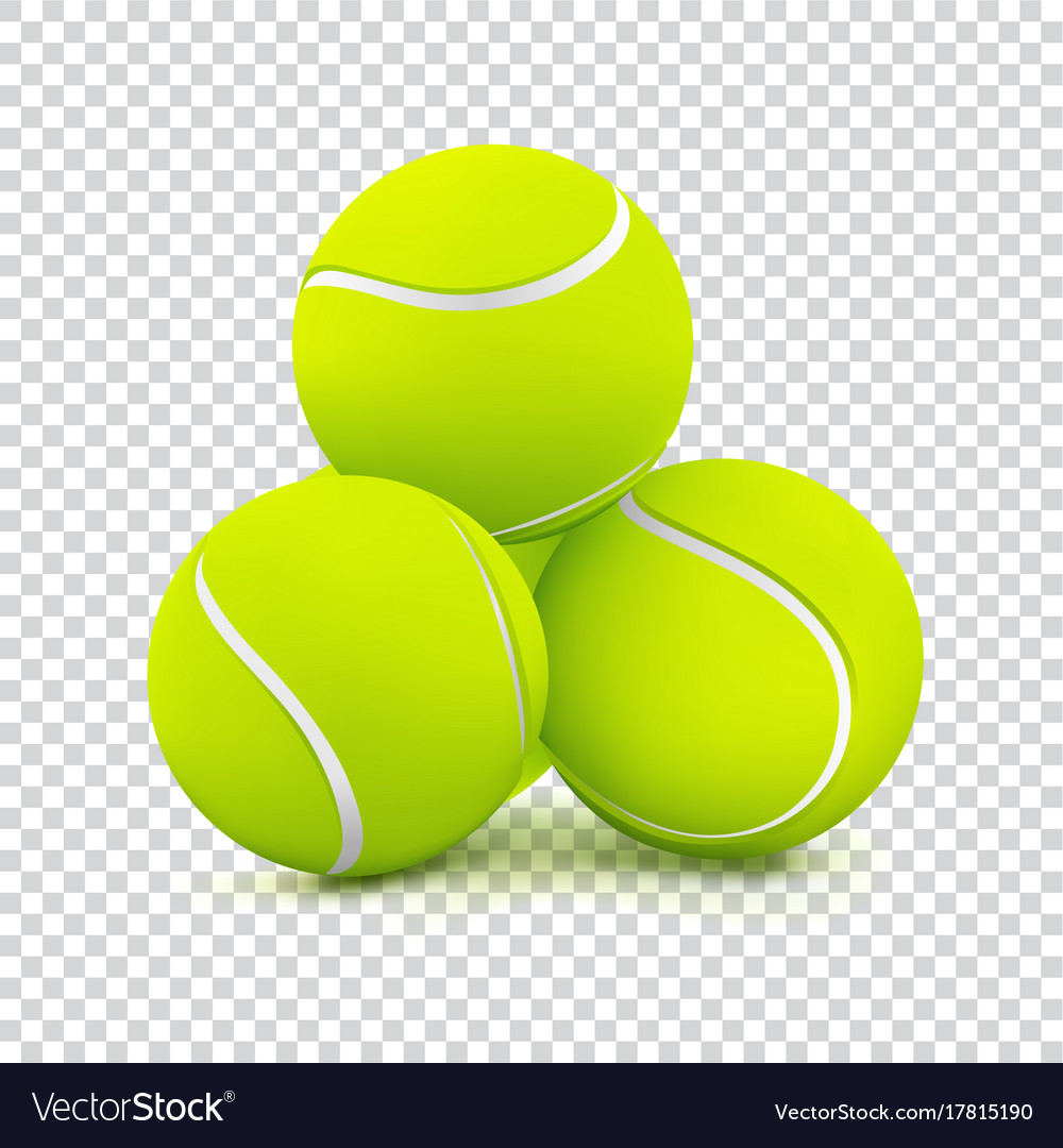 Tennis Balls On Transparent Background Royalty Free Vector
