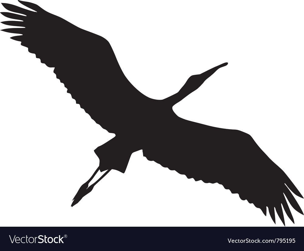 black silhouette of stork royalty free vector image rh vectorstock com stock vector files stork vector blades