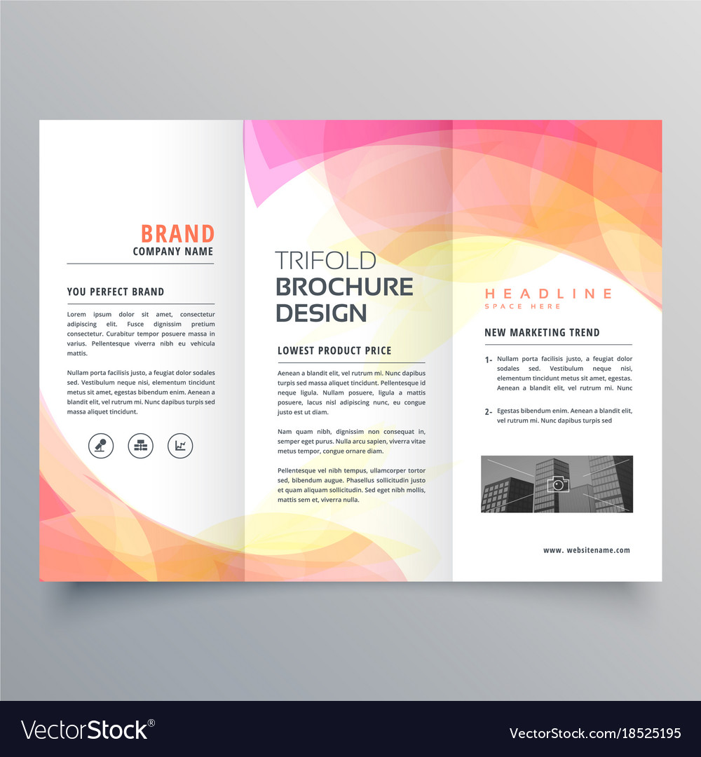 Foldable Pamphlet Template from cdn1.vectorstock.com