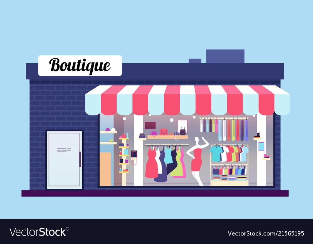 Fashion store exterior beauty shop boutique
