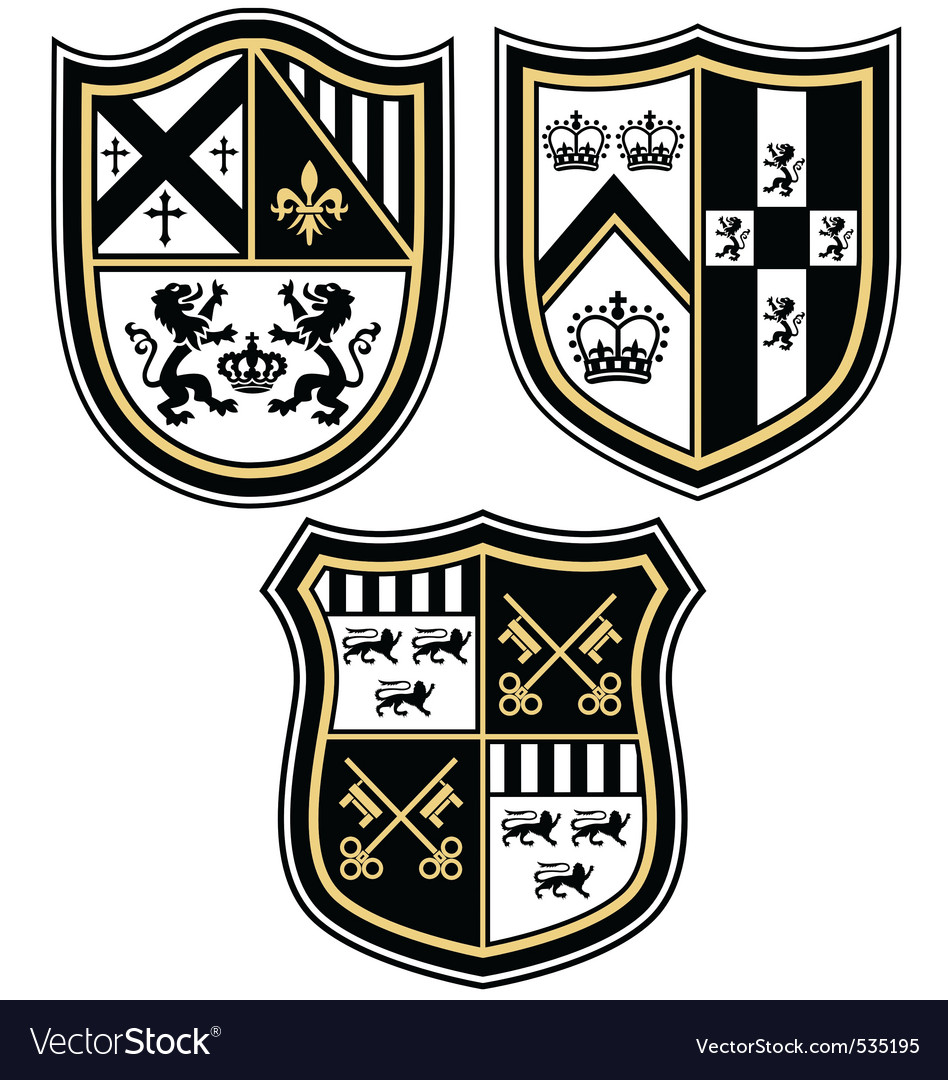 Heraldic emblem crest shield