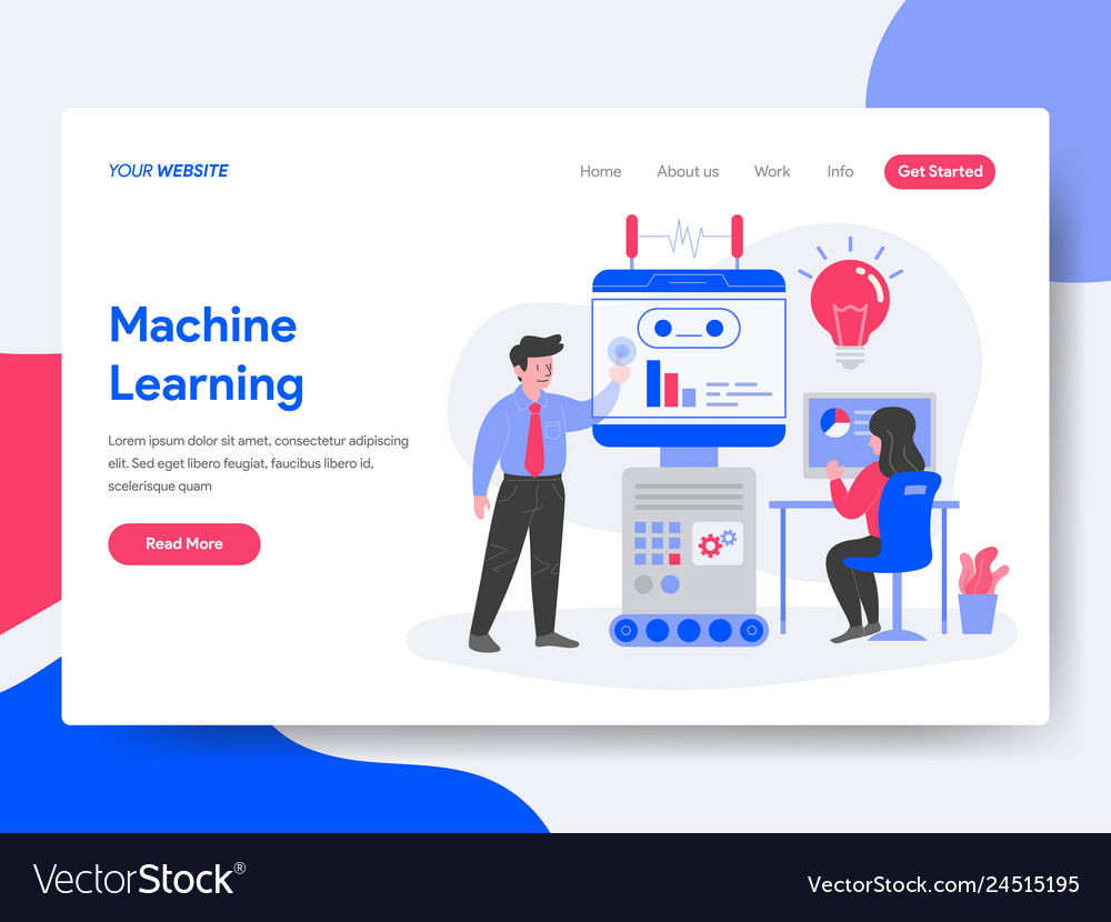 Landing page template of machine learning