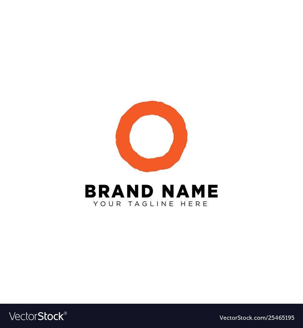 Letter o logo design concept minimal