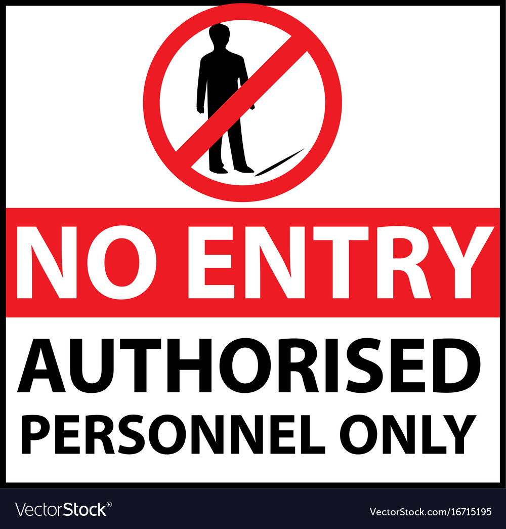 It is an image of Astounding Authorized Personnel Only Sign Printable