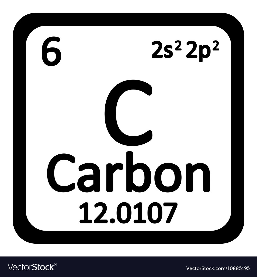 Periodic table element carbon icon royalty free vector image periodic table element carbon icon vector image urtaz Choice Image