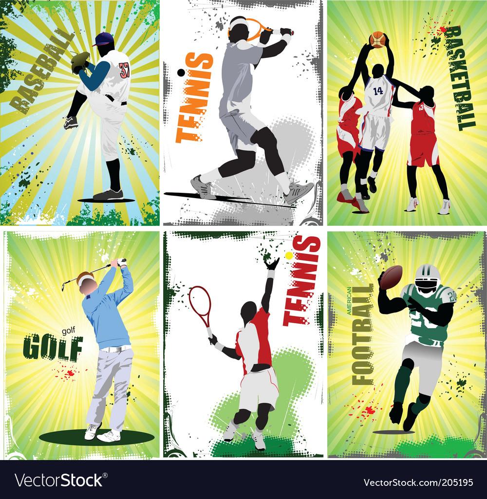sport posters royalty free vector image vectorstock