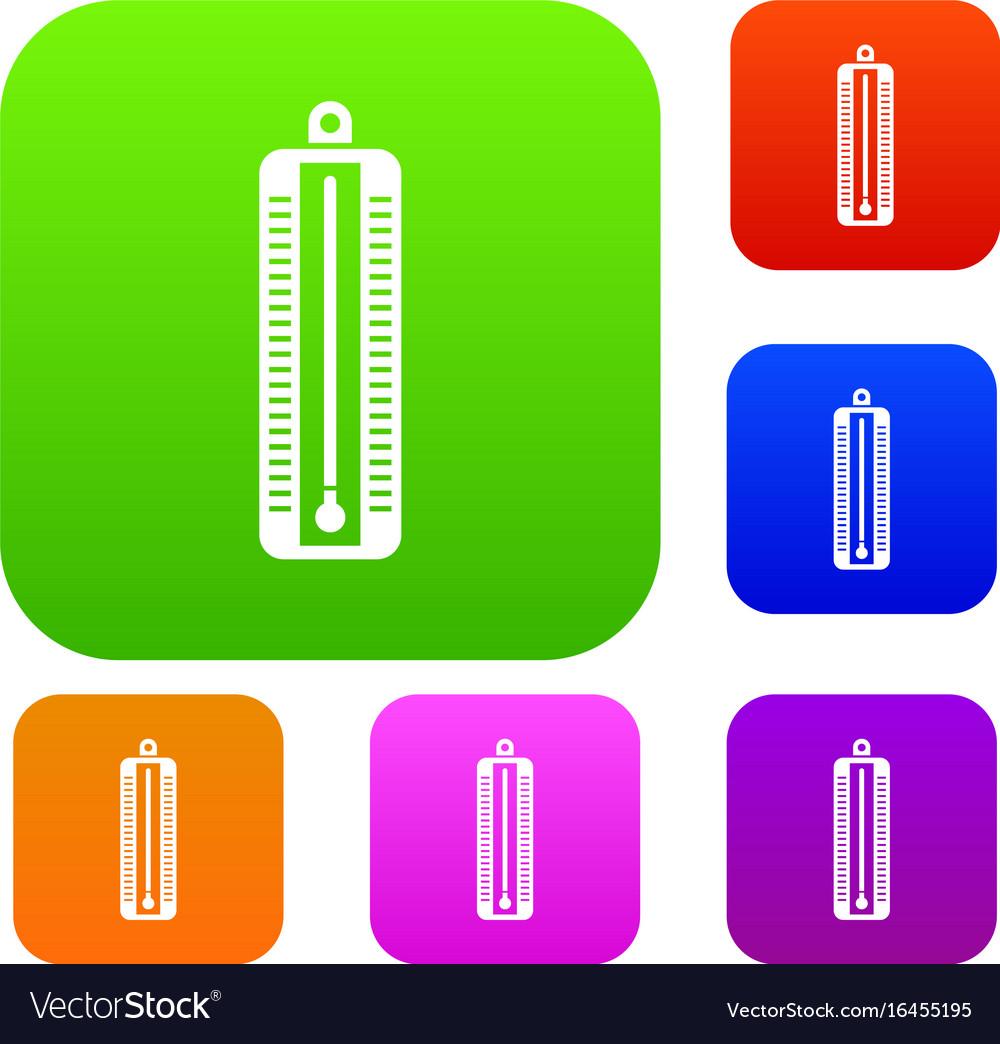 Thermometer indicates low temperature set