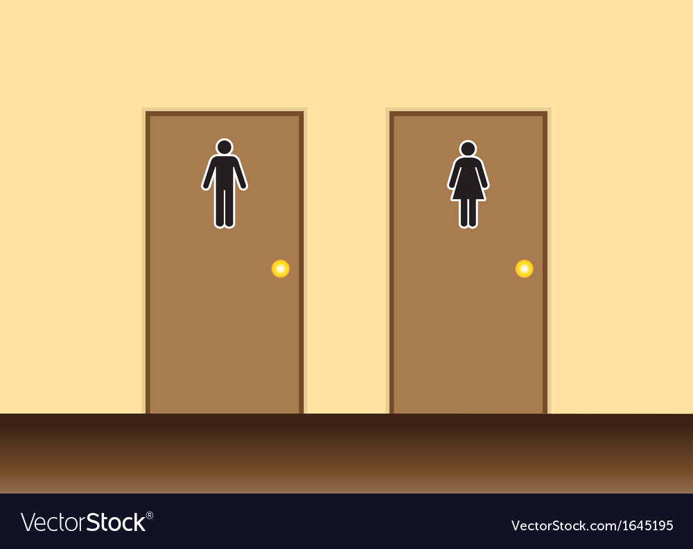 Toilets vector image
