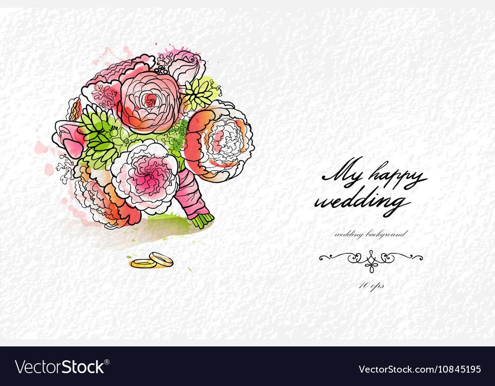 Wedding watercolor bouquet