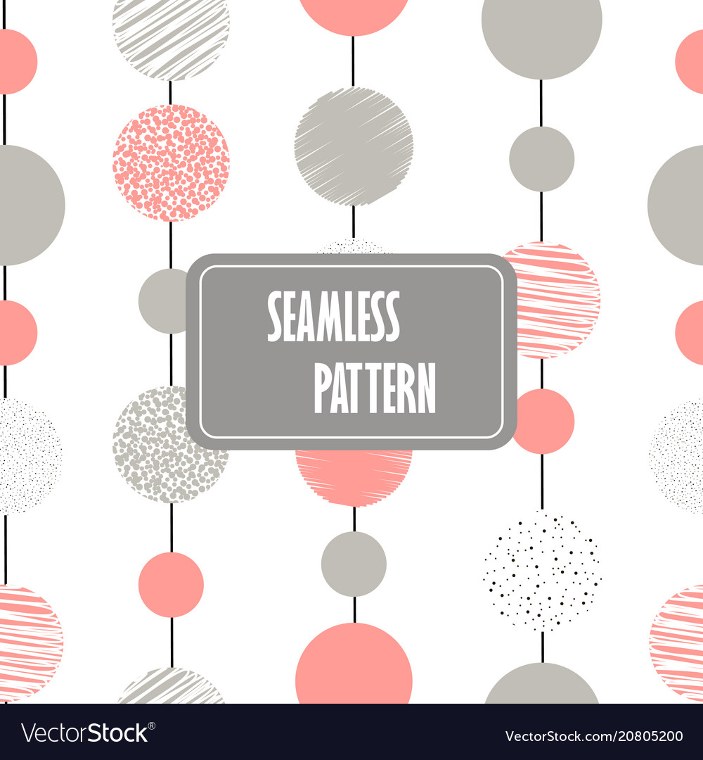 Abstract seamless pattern with circles and dots in