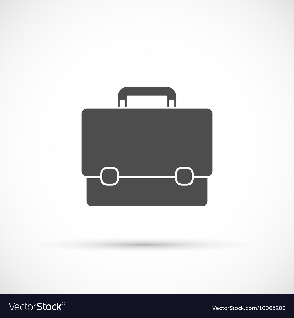 Briefcase icon on white background vector image