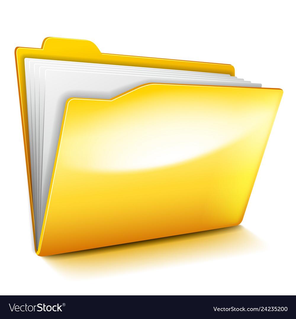 Computer folder isolated on white