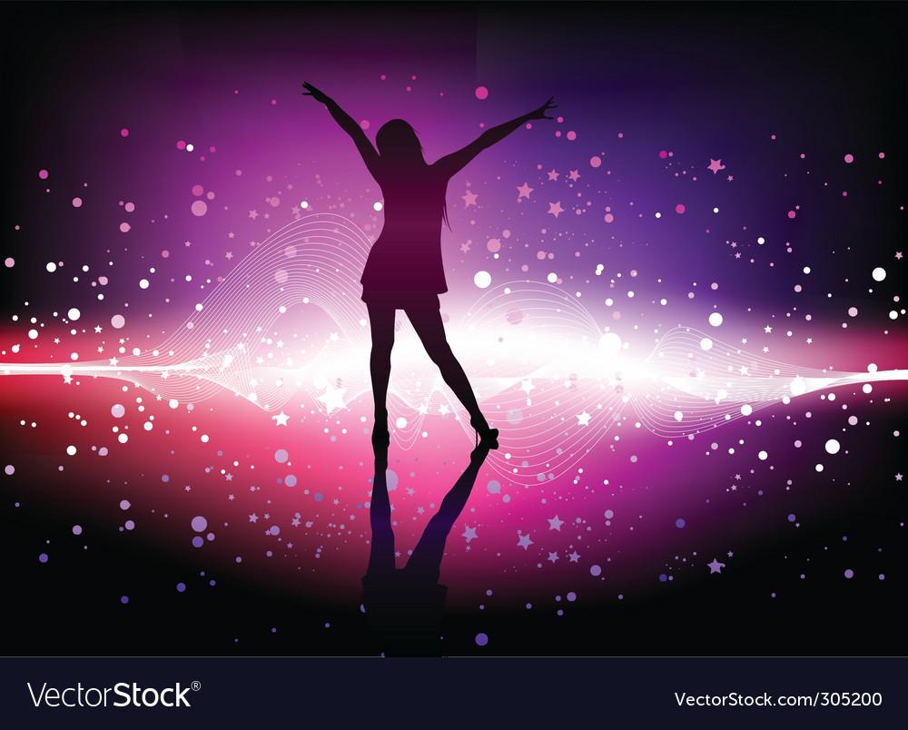 Dancing woman vector image