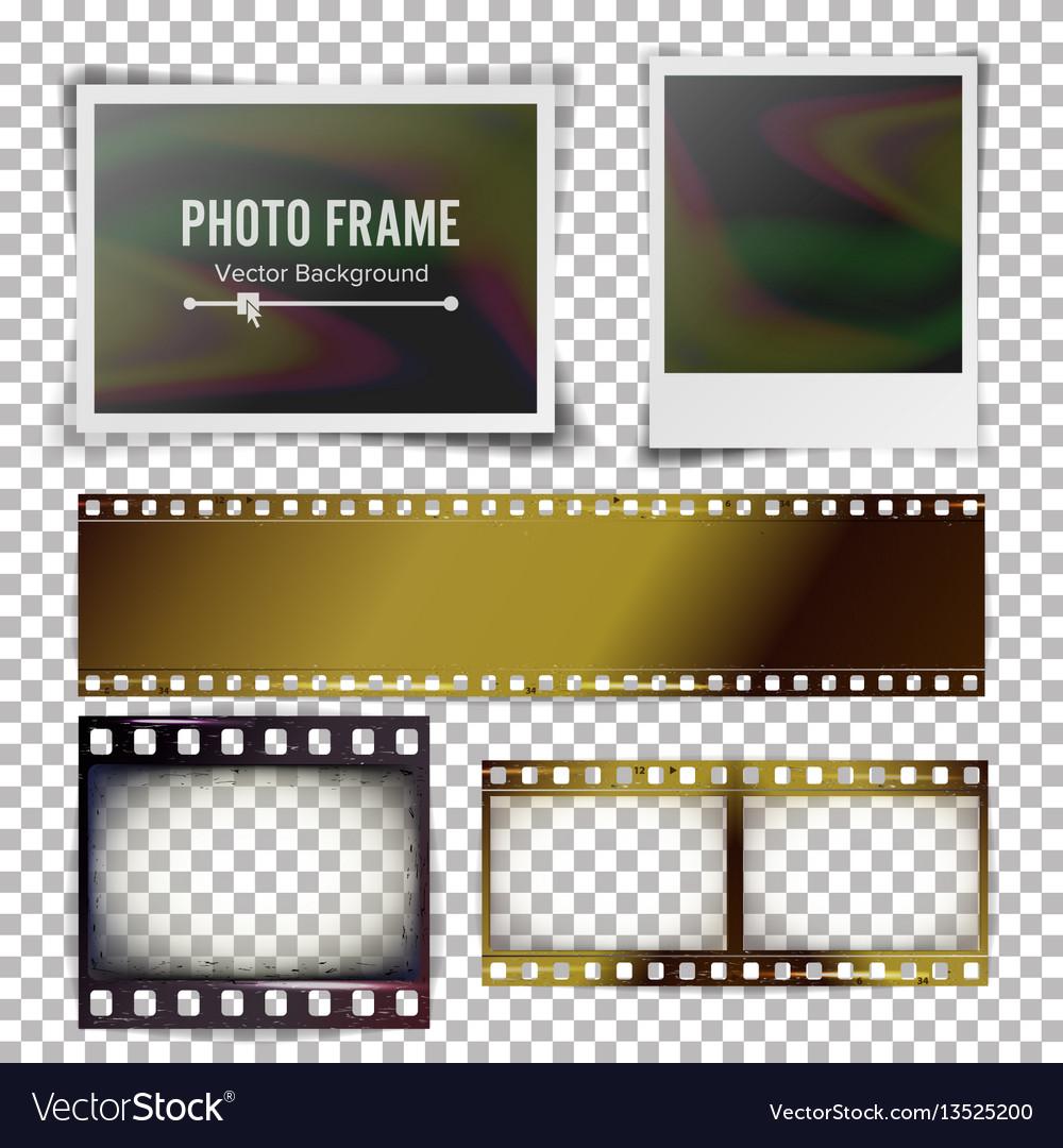 Instant photo frame photorealistic