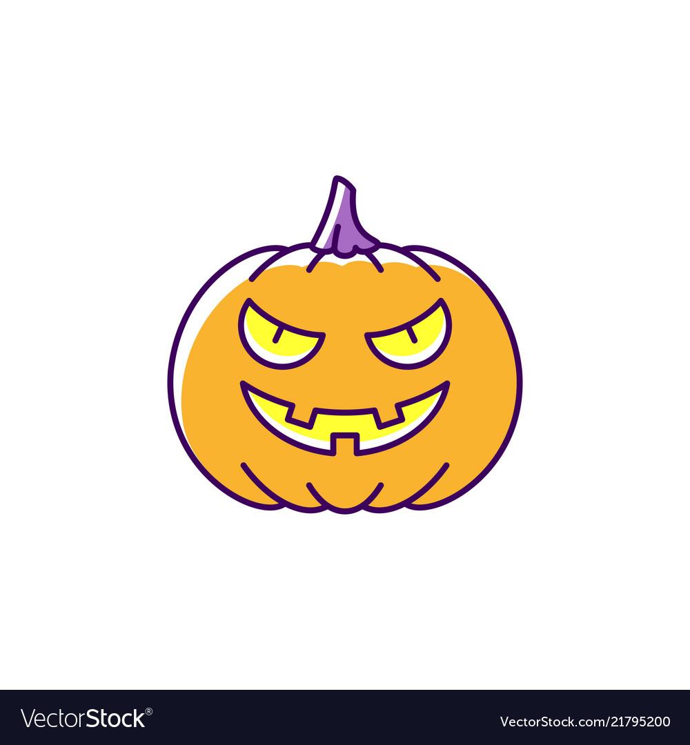 Jack olantern icon halloween pumpkin colorful