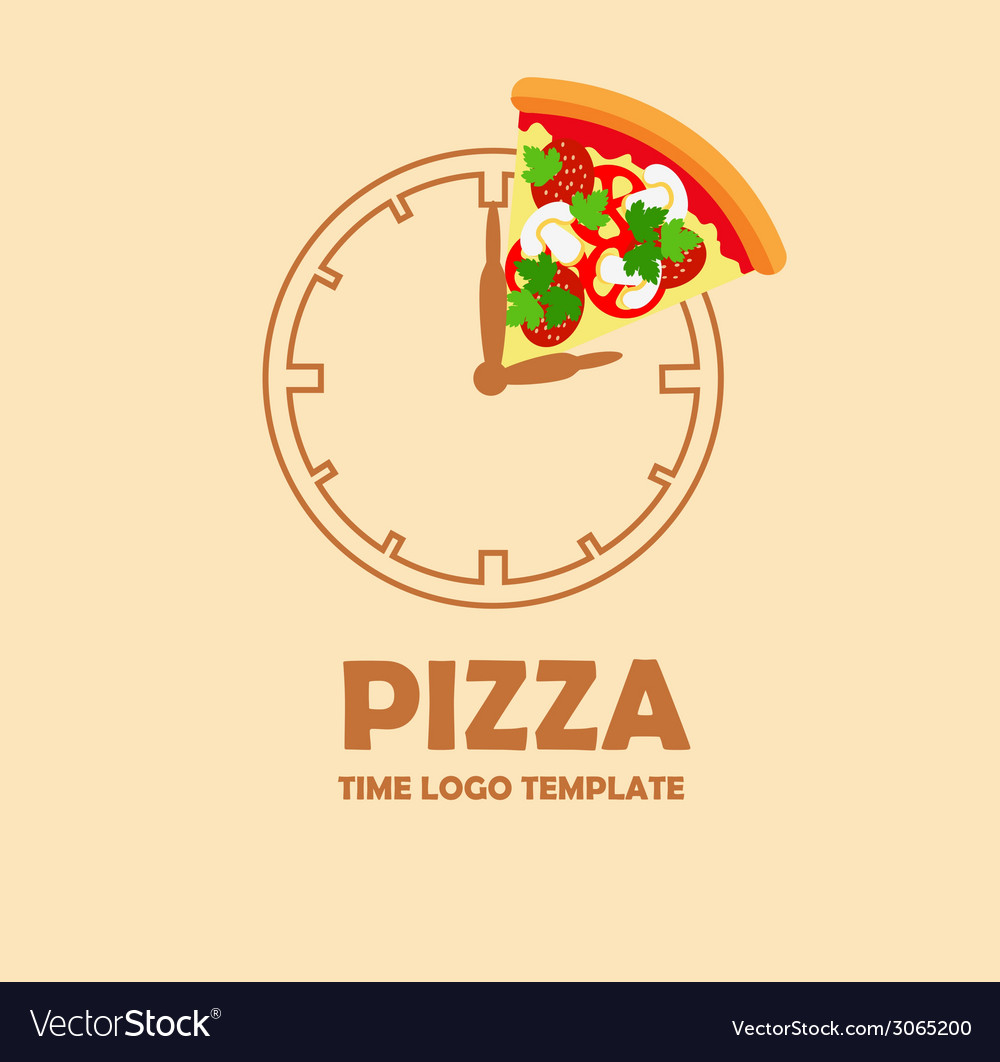 pizza logo design template vector image on vectorstock rh vectorstock com pizza logo png pizza logos and names