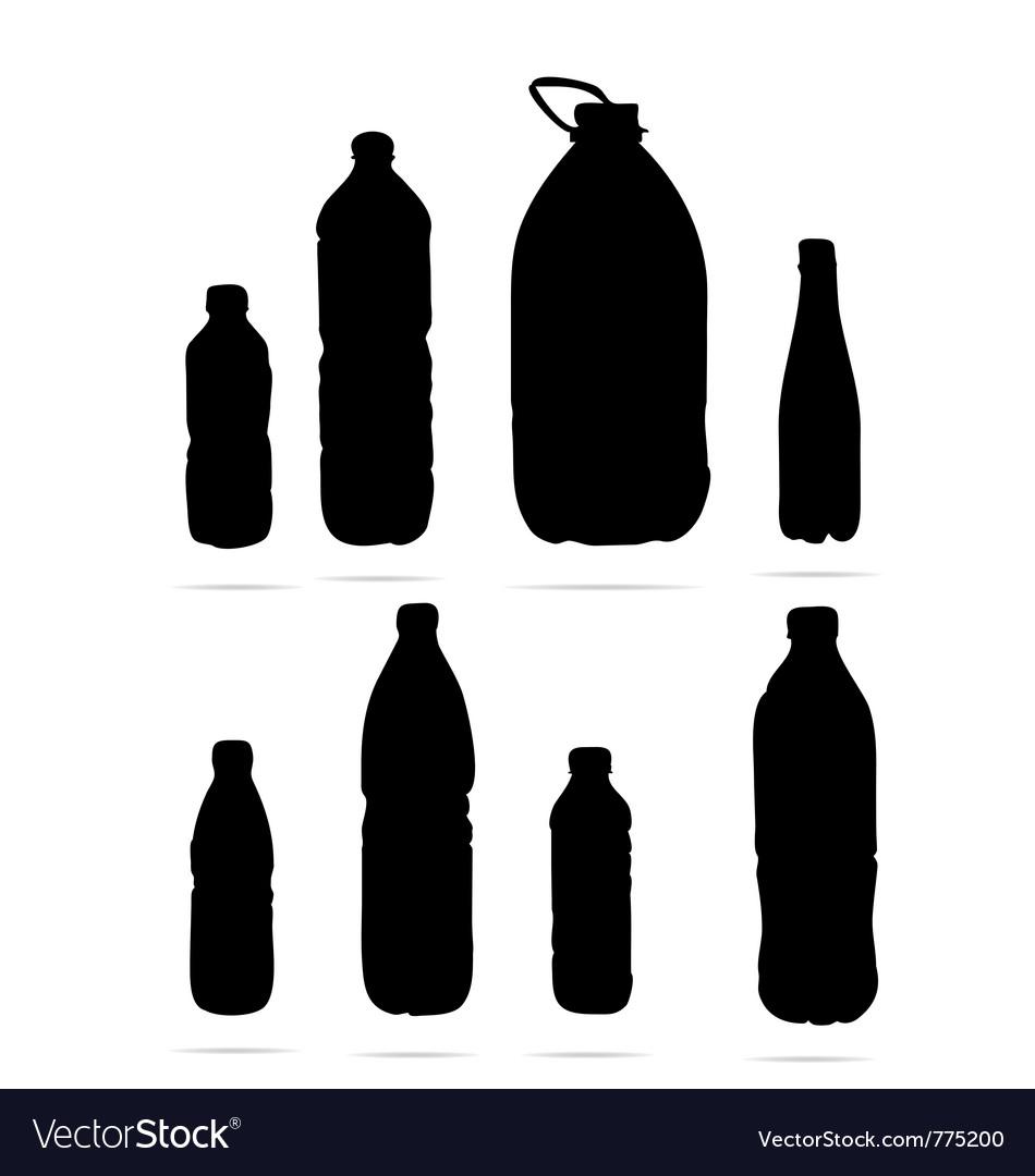 Plastic Bottles Symbols Royalty Free Vector Image