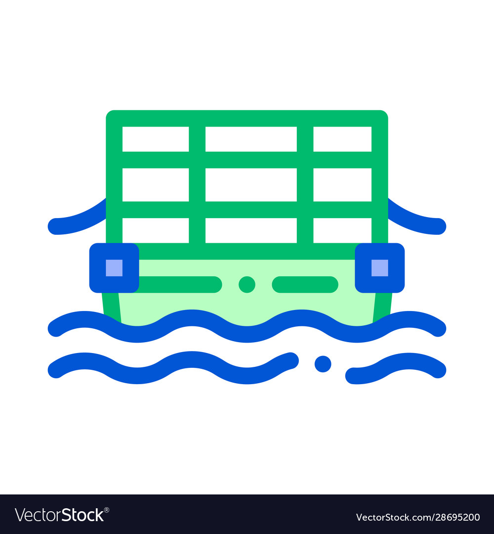 Public transport cable ferry thin line icon