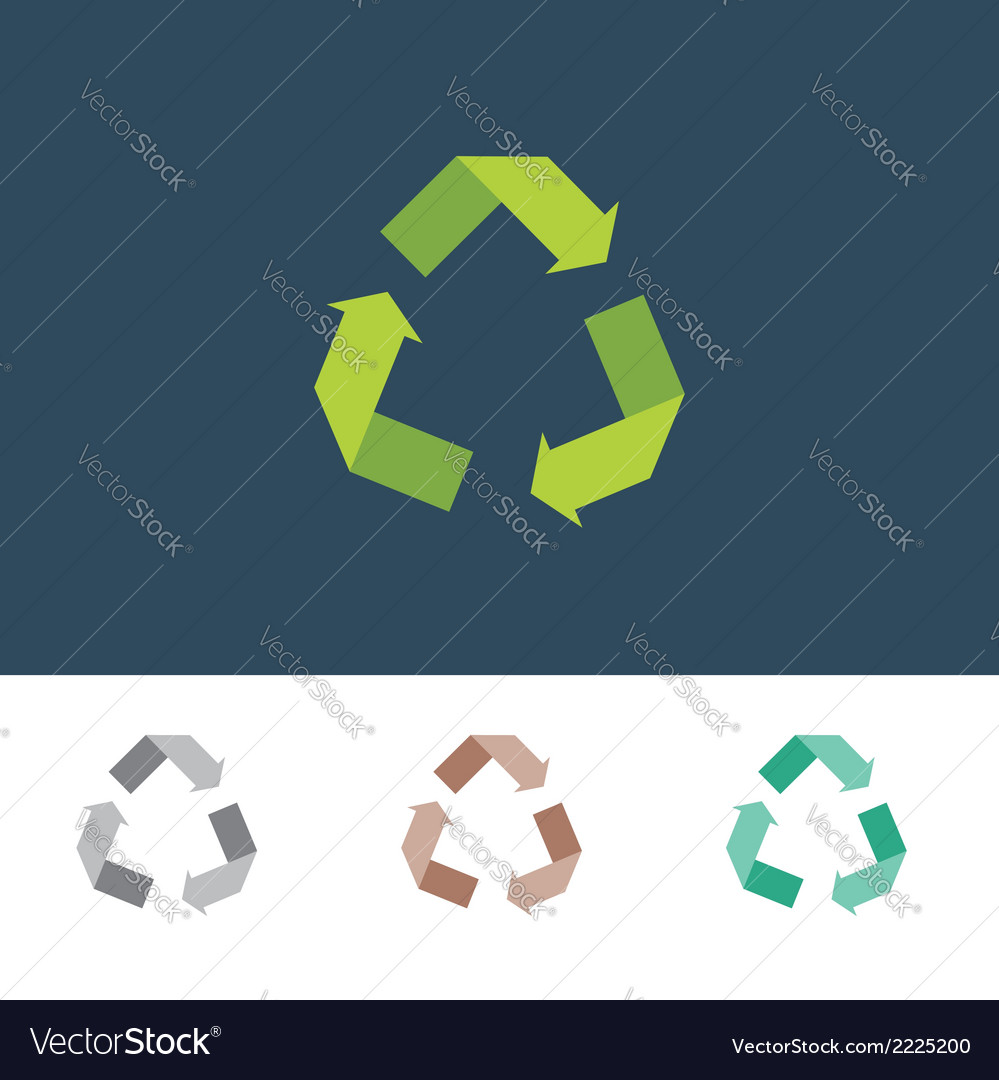 Recycle sign for eco environments