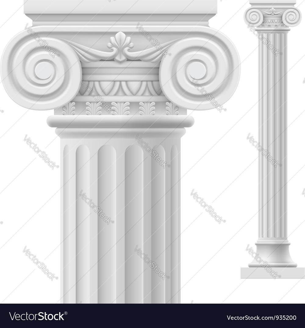 Fantastic Roman column Royalty Free Vector Image - VectorStock BB66