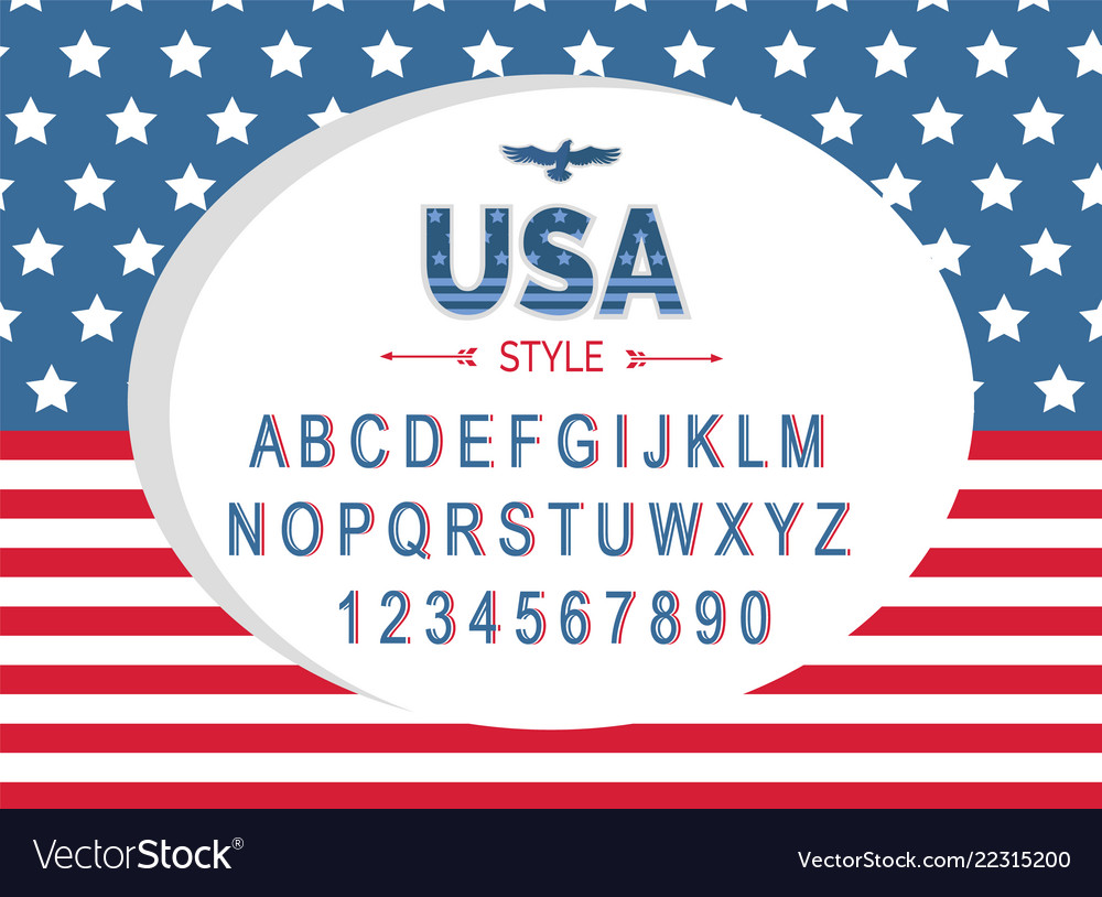 Usa independence day poster with national flag
