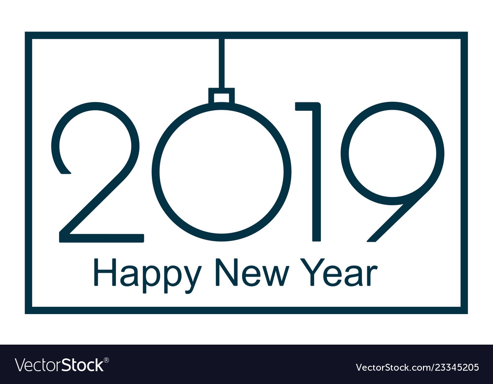 2019 happy new year or christmas